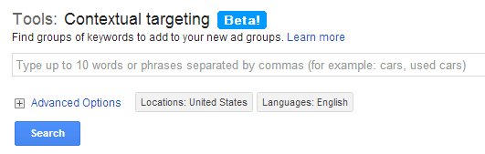 Google Contexual Targeting Tool